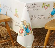 Peter Rabbit™ Tablecloth #pbkids This is a must have for Easter!