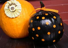 Easy Polka-dot Pumpkin