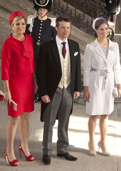 Princess Maxima of the Netherlands, Crown Prince Frederick of Denmark and Princess Madeleine of Sweden.