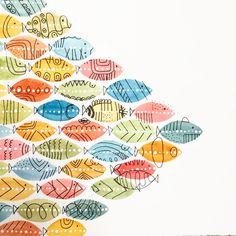 Going to school? Fish using my watercolor technique form my skillshare class https://skl.sh/2HMog41