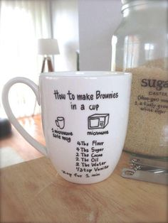 Brownies in a mug!