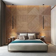 20 Modern And Creative Bedroom Design Featuring Wooden Panel Wall | Home Design And Interior