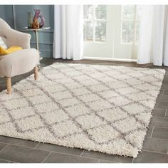 Free Shipping. Buy Safavieh Dallas Jerrie Power Loomed Area Rug, Ivory/Grey at Walmart.com