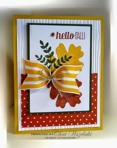 Hello Peeps !!! Happy Wednesday !!! I wanted to share a card that I did for my demo group- a card swap for Fall/Halloween. I de...