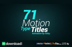 VIDEOHIVE MOTION TYPE TITLE ANIMATIONS FREE DOWNLOAD - Free After Effects Template - Videohive projects