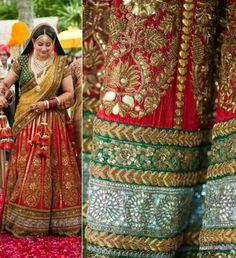 Most beautiful and traditional bridal lehenga by sabyasachi