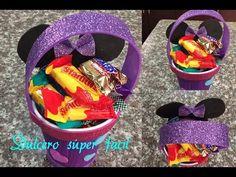 Dulcero facil minnie mouse utilizando un vaso termico, birthday bag minnie mouse - YouTube