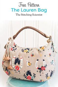 The Lauren Bag Free Pattern #freebagpattern #freesewingpattern