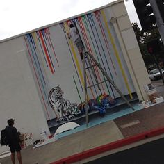 Checking out the awesome new street art being live painted by Michael Summers on Grand Ave | Flickr - Photo Sharing!
