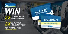 WIN 2 x 12 Month Memberships at Bailey Fitness Gym Membership, 12 Months, Competition, Training, Workout, Fitness, Tips, Free, Work Out