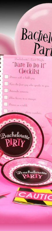 """Bachelorette. the """"dare to do it"""" i would get the wedding party to give me a dare each to do then while doing it/done it send the darer a picture :)"""