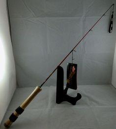 "New Berkley Cherrywood HD Ice Fishing Pole 30"" Rod Fiberglass Blank Cork Handle #Berkley"