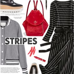 How To Wear Street Style Stripes Outfit Idea 2017 - Fashion Trends Ready To Wear For Plus Size, Curvy Women Over 20, 30, 40, 50