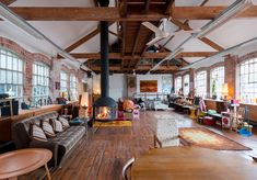 The Factory, Finedon, Northants — The Modern House Estate Agents: Architect-Designed Property For Sale in London and the UK Barn Loft Apartment, Loft Style Apartments, Warehouse Apartment, Warehouse Living, Warehouse Home, Warehouse Design, Lofts, Converted Warehouse, Warehouse Conversion