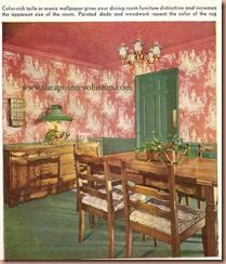 pink wallpaper and ceiling