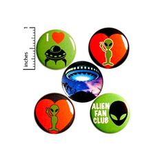 Alien Pin for Backpack Button or Fridge Magnet Set Backpack | Etsy