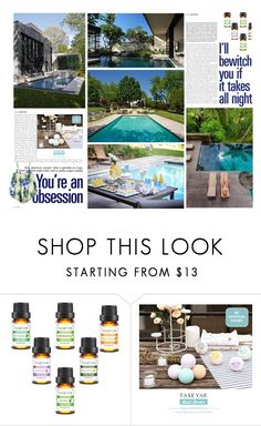 Spring Pool Party by ioakleaf on Polyvore featuring interior, interiors, interior design, home, home decor, interior decorating and Hostess