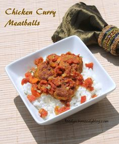 Chicken Curry Meatballs A flavorful twist on a traditional meatball. #curry #chicken #meatball