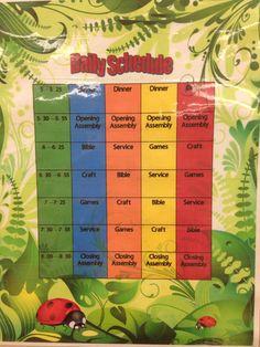 Jungle Safari VBS 2014 daily schedule