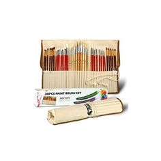 Artify 38 Pcs Paint Brushes Art Set (155 PLN) ❤ liked on Polyvore featuring home and home improvement