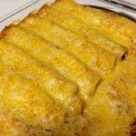 Easy Chicken Enchiladas that start with a rotisserie chicken