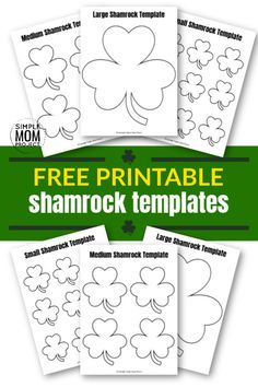 Free Printable Shamrock Templates in Small, Medium and Large - Simple Mom Project Shamrock Printable, Shamrock Template, St Patricks Day Crafts For Kids, St Patrick's Day Crafts, St Patrick Day Activities, Craft Activities For Kids, Templates Printable Free, Free Printables, Thing 1