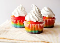 Baked Bree - eat well, laugh often » Rainbow Cupcakes