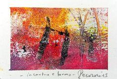 Incontro e forma, 2015, tecnica mista, 9.5 x 6 cm