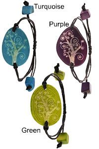 Tree of Life Etched Tagua Bracelet at The Animal Rescue Site