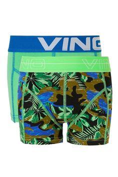 Vingino boxershort set voor jongens Palm Green groen