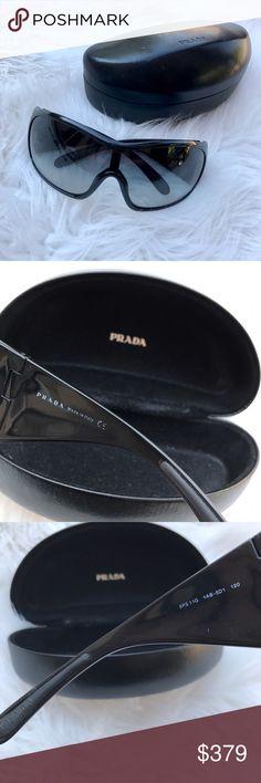 Black Prada Sunglasses Like new. Comes with everything pictured! Prada Accessories Sunglasses