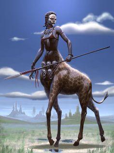 African Warrior Centauress- CDC by Fernando Granea