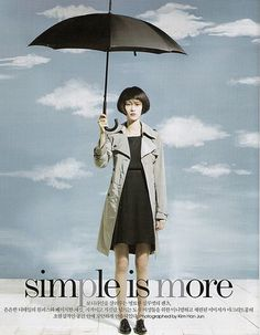 """Simple is More"" - Magritte influences in Vogue Korea fashion shoot."