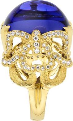 {Daily Jewel} Tanzanite, Diamond, Gold Ring, by Cynthia Bach - Haute Tramp