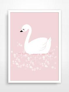 Affiche/Poster/Print * Cygne blanc * L'affiche reste un accessoire de décoration incontournable. Que se soit pour personnaliser une chambre d'enfant ou pour offrir, toutes l - 17105679