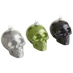 Glass Skull Ornaments