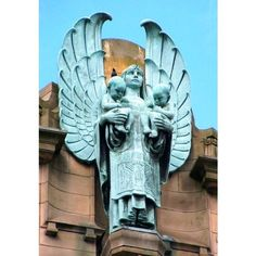 Art Deco Gargoyles and Guardians ❤ liked on Polyvore featuring home, home decor, art deco home decor and art deco statues