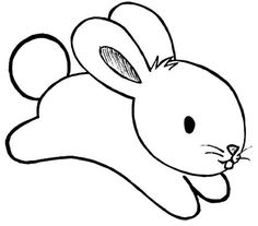 pictures to colour of rabbits - Yahoo Search Results Yahoo Image Search Results Easy Drawings For Kids, Drawing For Kids, Art For Kids, Animal Coloring Pages, Colouring Pages, Coloring Books, Bunny Painting, Bunny Drawing, Felt Animal Patterns