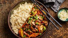 Edamame, Superfood, Kung Pao Chicken, Vegan Recipes, Vegan Food, Veggies, Low Carb, Rice, Chinese