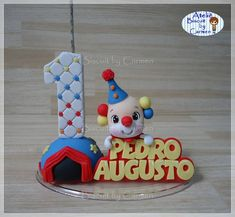 Circus Theme, Party Cakes, Cake Toppers, Biscuits, Clay, Christmas Ornaments, Holiday Decor, Gabriel, Fondant
