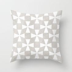 Grey Twirl Throw Pillow by Linda Woods - $20.00