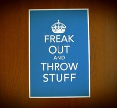 Freak Out and Throw Stuff Poster Print - Keep Calm Parody from Earmark on Etsy. Quotes To Live By, Me Quotes, Funny Quotes, Keep Calm, Stay Calm, Just In Case, Just For You, Freak Out, Thats The Way