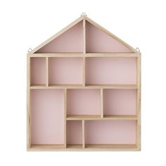 Room and Bloom - House Shaped Shadow Box - Blush Pink, $69.00 (http://www.roomandbloom.com.au/display/house-shaped-shadow-box-blush-pink/)