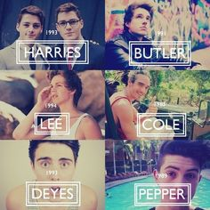 All my favorites and the years they were born. Caspar is the baby of the bunch. :)