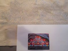 STAMPED Hungarian MATYO Pillowcase / WALL DECORATION for Hand Embroidery Linen  #MATYO