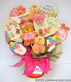 Cookievonster.com Baby Cookie Bouquet
