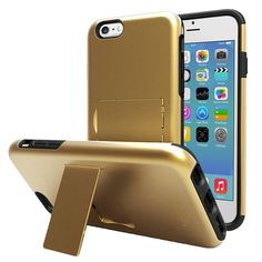 """Vena LEGACY Dual Layer (PC + Silicone) Hybrid Phone Case Cover for Apple iPhone 6 (4.7"""") with Kickstand and Screen Protector - Assorted Colors"""