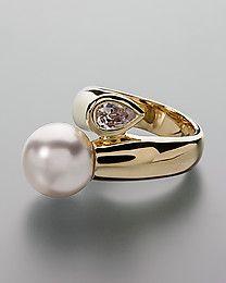 Pfeffinger Ring Perle & Zirkonia