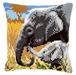 Elephant Love Cushion Front Chunky Cross Stitch Kit