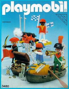argentinian antex version of the 1980 european 3480 piraten set Playmobil Sets, Paw Patrol Toys, Box Art, Good Old, My Childhood, Vintage Toys, Diy And Crafts, Kids, Retro Games